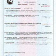 Сертификат соответствия Тосол